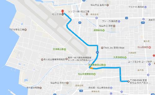 松山空港にアクセス至便